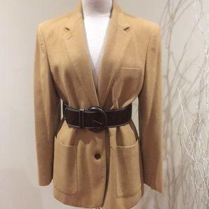 Ladies Ralph Lauren size 14 camel blazer